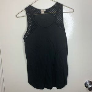 J crew black sleeveless top